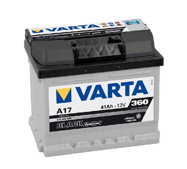 Batterie VARTA black dynamic 12V 41AH 360A A17