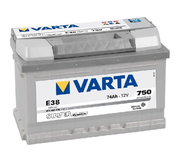 Batterie VARTA silver dynamic 12V 74Ah 750A E38