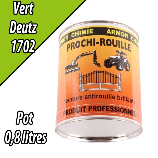 Peinture agricole PROCHI- ROUILLE brillante, vert clair, 1702, DEUTZ, Pot 0,8 L