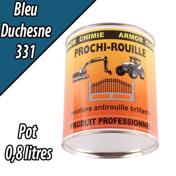 Peinture agricole PROCHI- ROUILLE brillante, bleu, 331, DUCHESNE, Pot 0,8 L