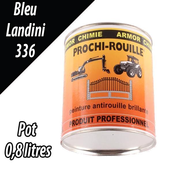 Peinture agricole PROCHI- ROUILLE brillante, bleu, 336, LANDINI, Pot 0,8 L
