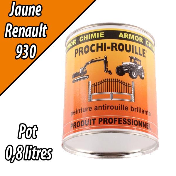 Peinture agricole PROCHI- ROUILLE brillante, jaune, 930, RENAULT, Pot 0,8 L