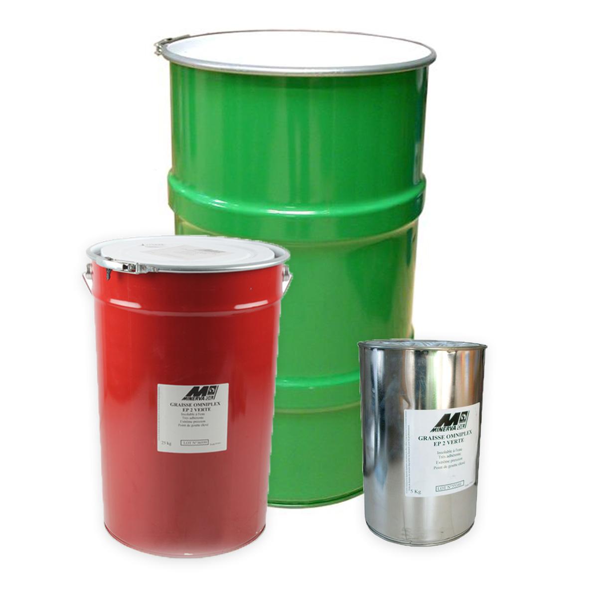 Graisse extrême-pression OMNIPLEX EP2 VERTE, pot métallique de 5kg