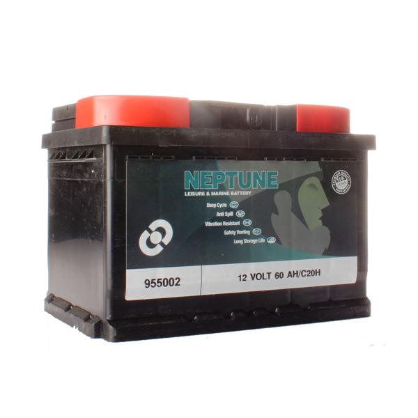 Batterie agricole 12 volts 60 ampères spéciale clôture avec bac étanche, sans entretien et son oeilleton de sécurité