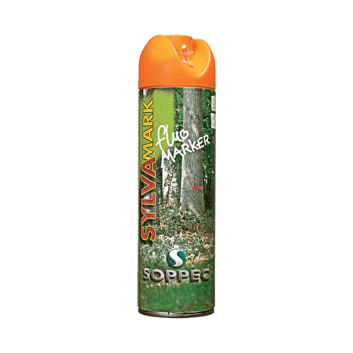 Aérosol traceur forestier, orange fluo, 500 ml
