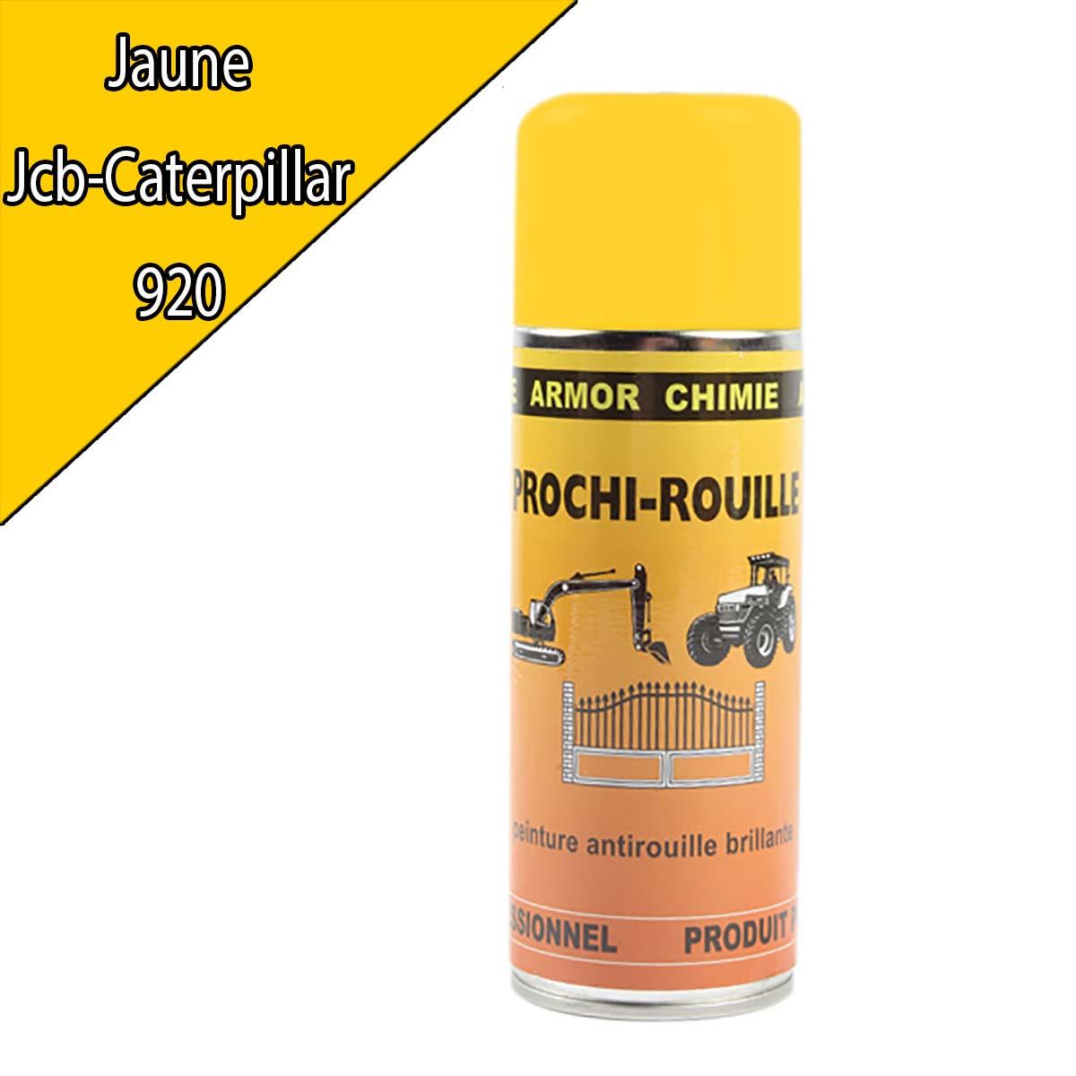 Peinture agricole PROCHI- ROUILLE brillante, jaune, 920, CATERPILLAR, Aérosol 400ml