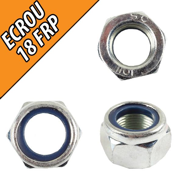 Ecrou frein diamètre 18 mm FRP filetage 150
