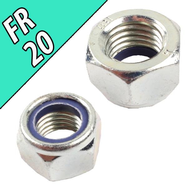 Ecrou frein nylstop DIN985 CL8 Zing 20 mm, pièce interchangeable
