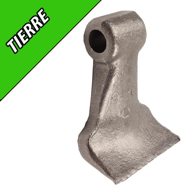 Marteau de Broyeur TIERRE, 85X40, Diamètre du trou 16,5mm, Interchangeable