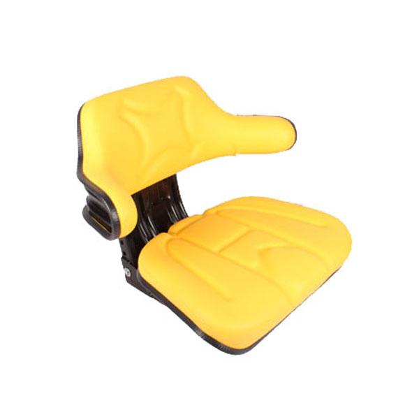 Siège de tracteur mécanique simili cuir jaune avec maintiens latéraux
