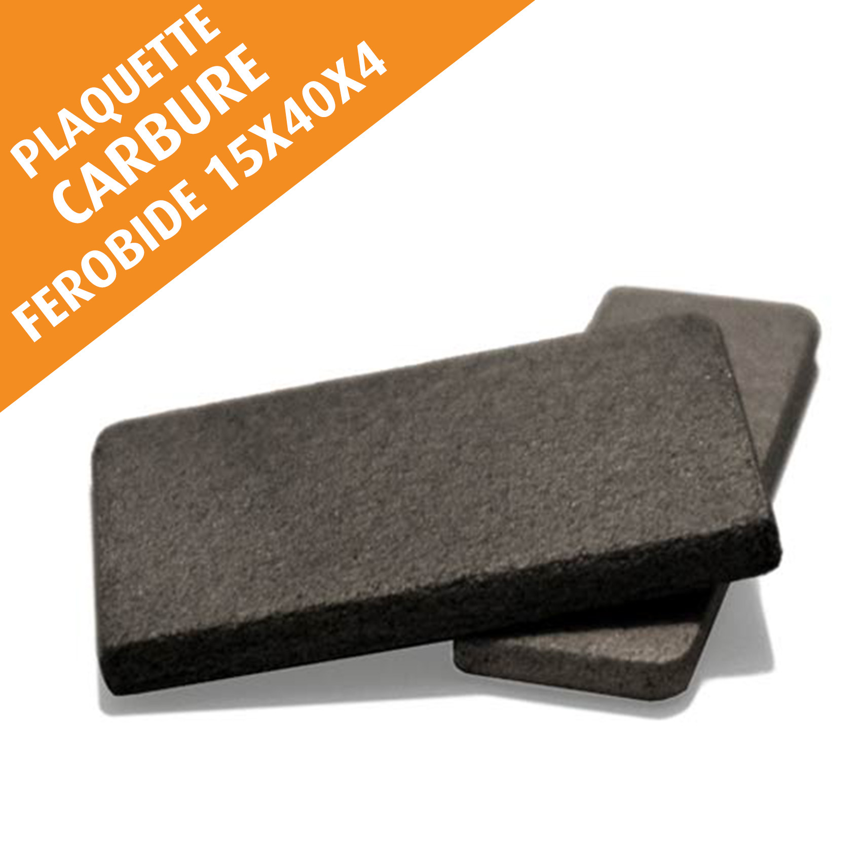 Lot de 10 plaquettes carbure FEROBIDE à souder, 15x40x4 mm
