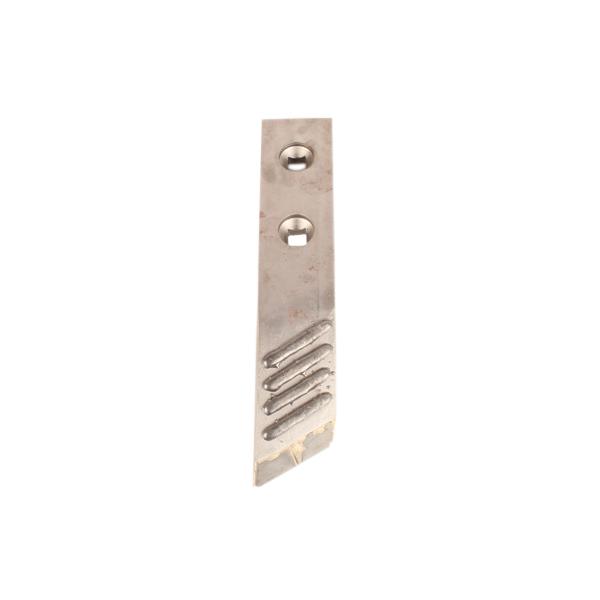 Pointe carbure gauche pour lame Michel, 590x40x60 mm, entraxe 80 mm, pièce interchangeable