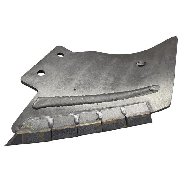 Contre Lame gauche carbure heliplow type Michel 900 mm, entraxe 90 mm, pièce interchangeable