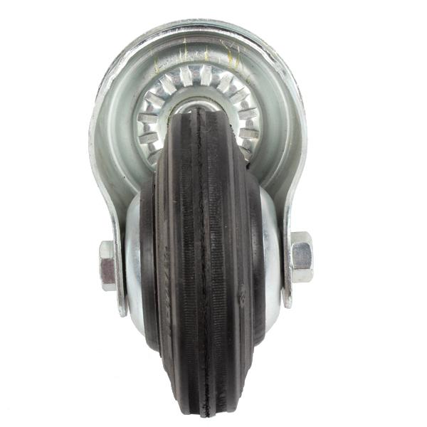 Roue caoutchouc 125mm pivotante à oeil, S74OC, 022224