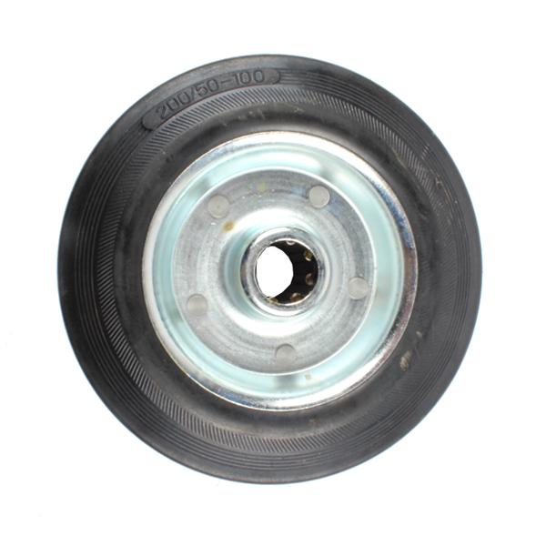 Roue caoutchouc 200x50mm, semi élastique, 4635