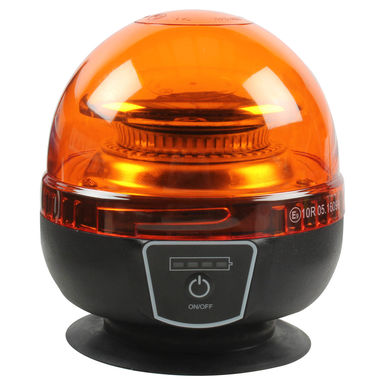 Lampe gyrophare magn/étique /À pile