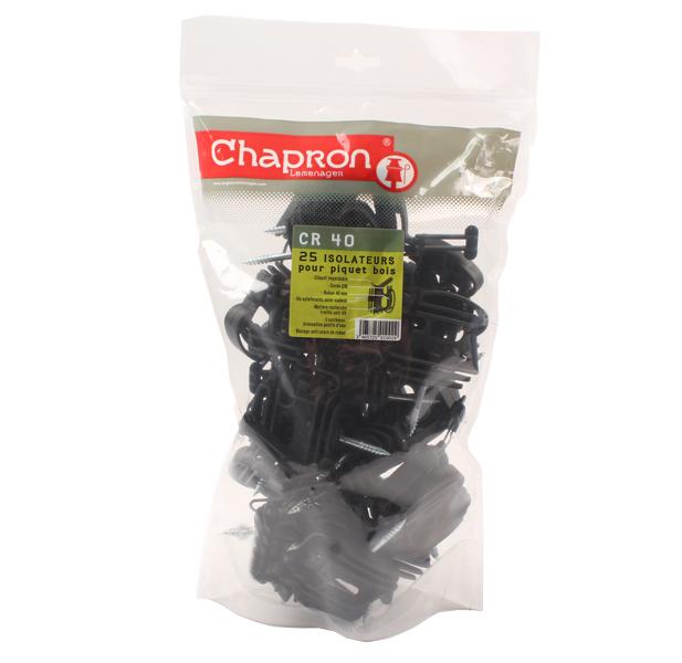 Isolateur pour ruban ou corde, CR40, 22000511, CHAPRON, sachet de 25 pièces
