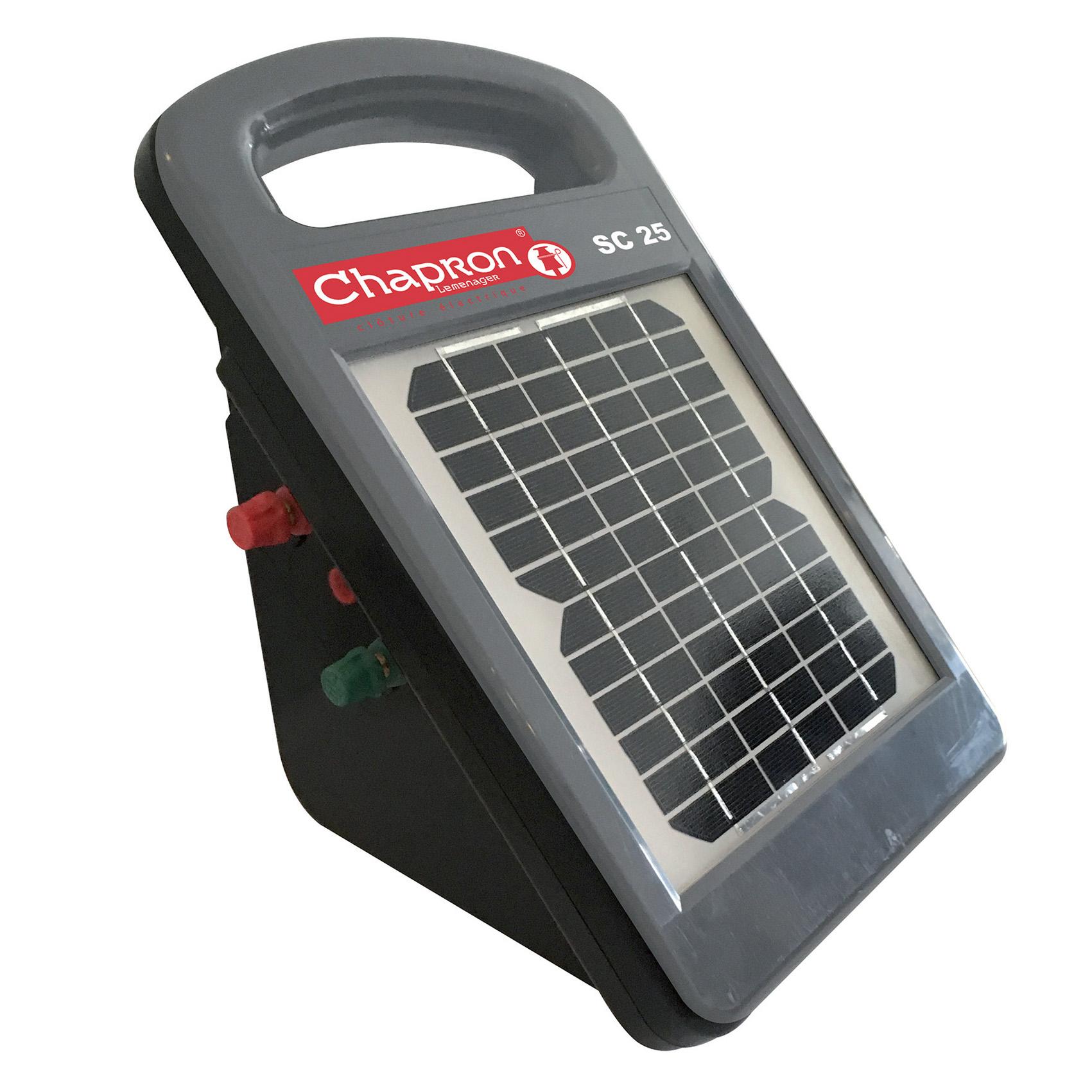 Electrificateur solaire SC25, poste portatif pour pâturage tourant