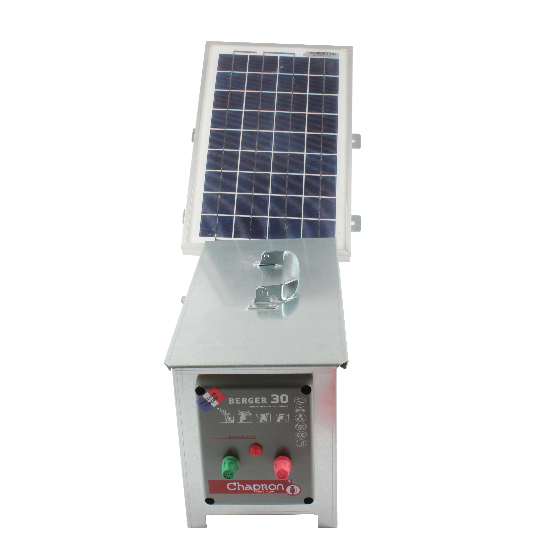 Electrificateur BERGER 30, 28000211, CHAPRON +  panneau solaire 10w + batterie 50AH