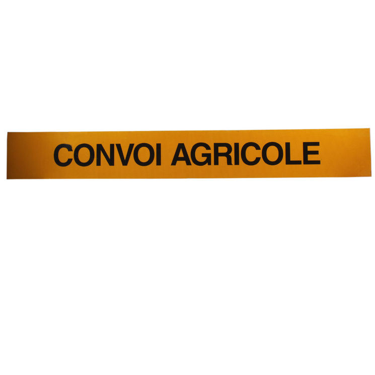 Convoi agricole 1 face 2 mm, 190x25 mm, classe 2