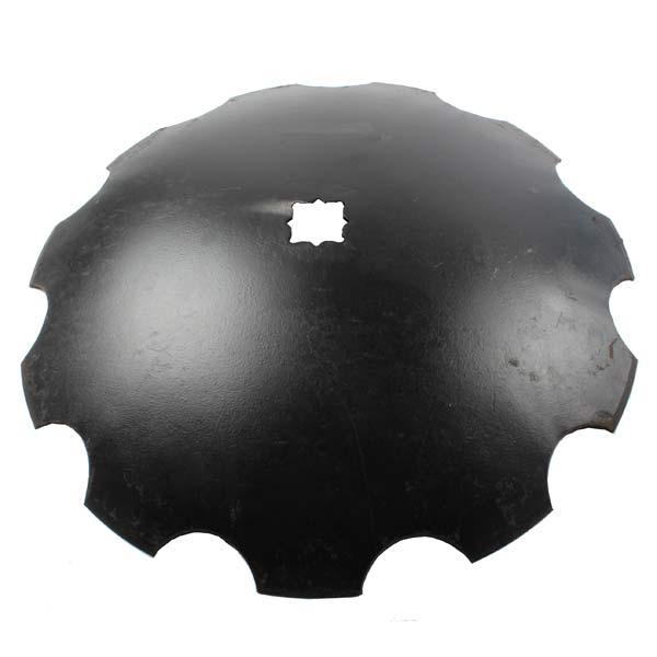 Disque crénelé 610x6 mm, double carré de 31/36 mm, pour cover crop, pièce interchangeable