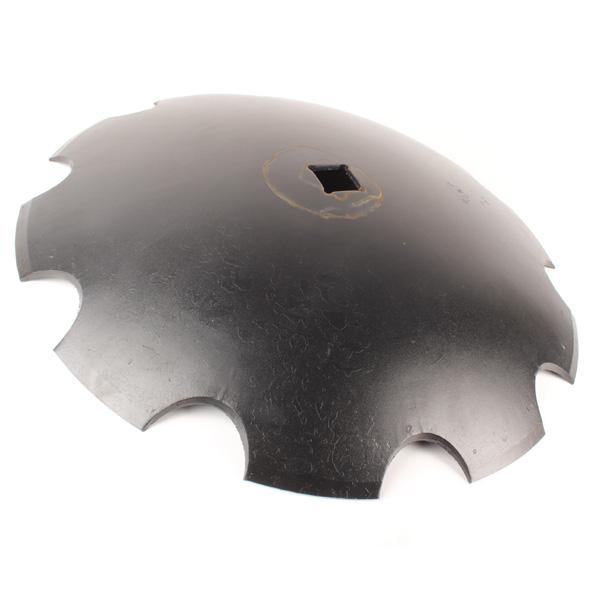 Disque crénelé 610x6 mm, carré de 41 mm, pour cover crop, pièce interchangeable