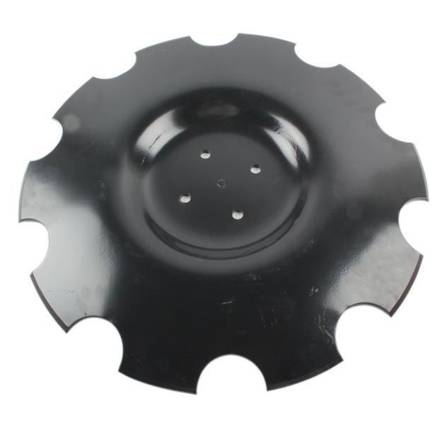 Disque crénelé 510x6 mm, 4 trous, pour déchaumeur Metal Fach, pièce origine