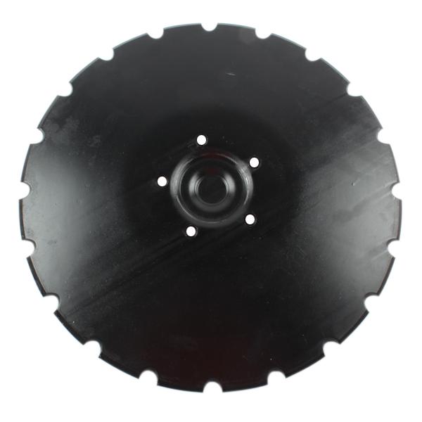 Disque crénelé 410x5 mm, 5 trous, pour déchaumeur Franquet, pièce interchangeable
