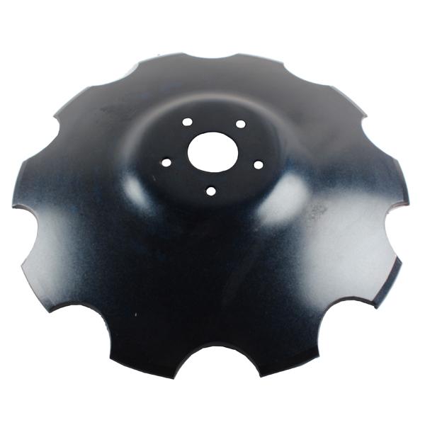 Disque crénelé 610x6 mm, 5 trous, pour déchaumeur Gascon, pièce interchangeable