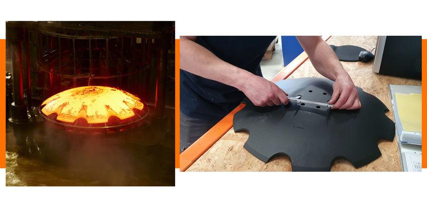 Disque forge fabrication et contrôle Agripartner