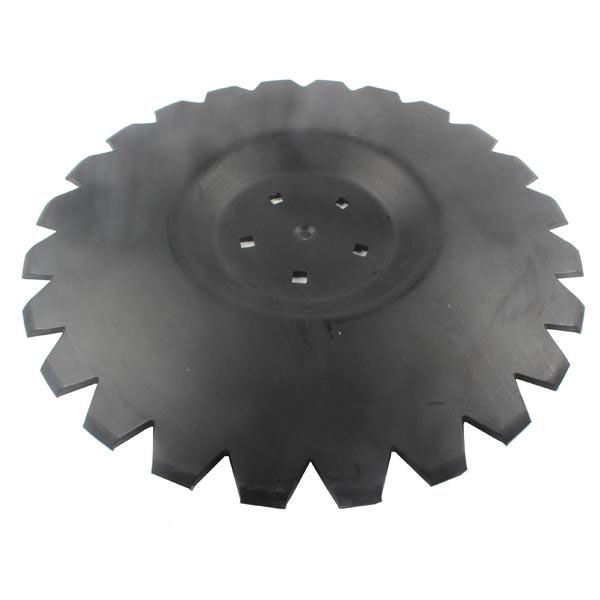 Disque crénelé 560x6 mm, 5 trous, pour déchaumeur Unia Mars, pièce interchangeable