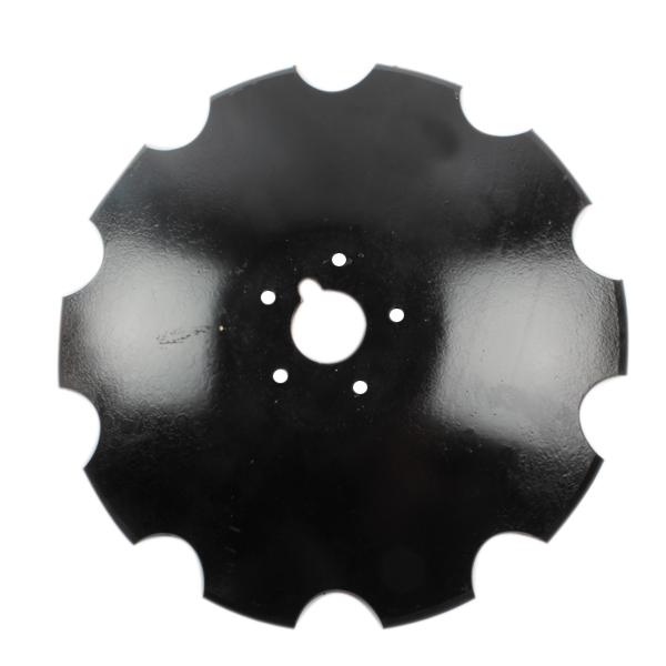 Disque crénelé 610x6 mm, 5 trous, pour déchaumeur Tulip, pièce interchangeable