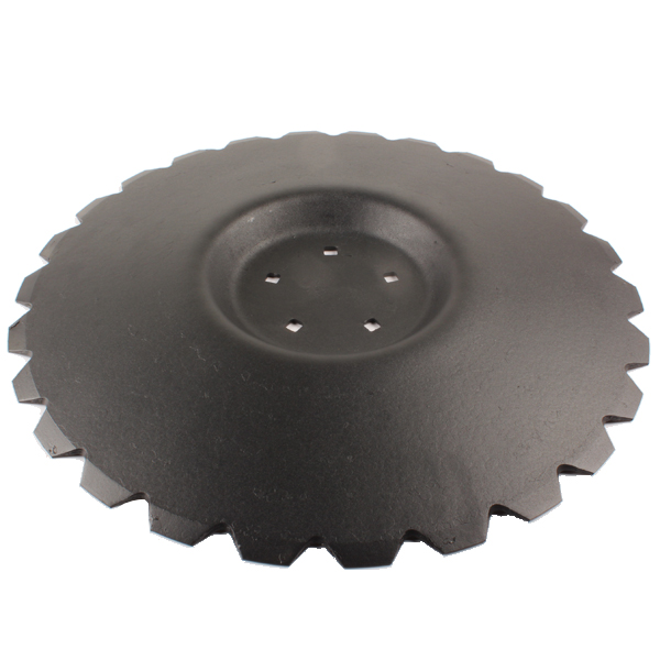 Disque crénelé 560x4 mm, 5 trous, pour déchaumeur Unia Ares, pièce interchangeable