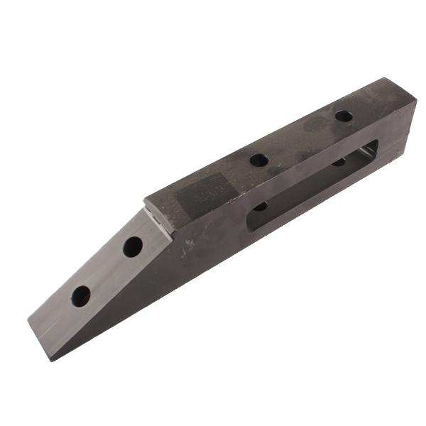 Support de pointe boulonnée Réversible pour lame Michel, 345x40x65 mm, entraxe 85 mm, pièce interchangeable