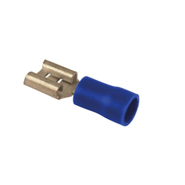 Cosse plate femelle bleue L6.3 par 10