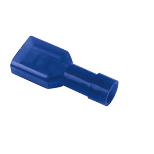 Cosse plate femelle isolée bleue L6.3 par 10