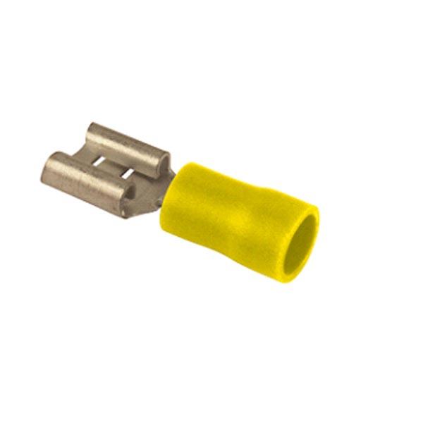 Cosse plate femelle jaune L6.3 par 10