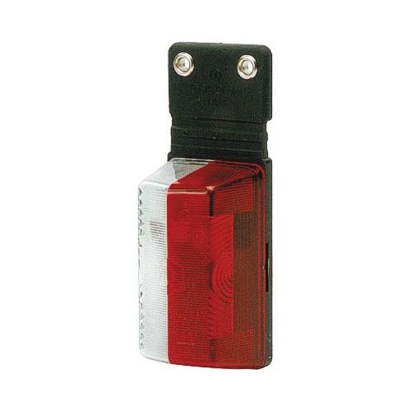 Feu de gabarit latéral bi-colore Blanc et Rouge  avec languette