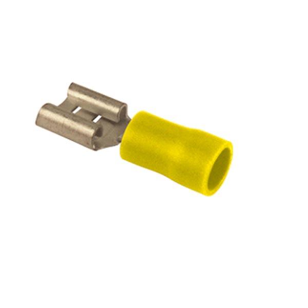 Cosse plate femelle jaune L9.5 par 10
