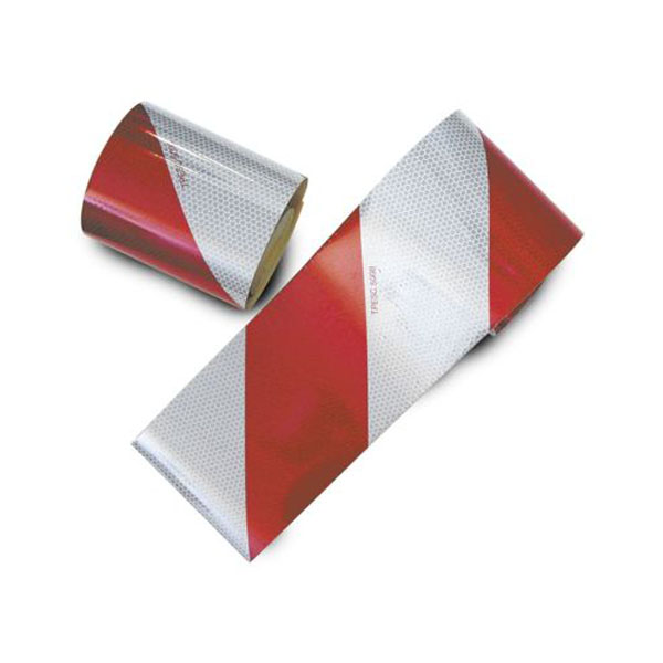 Kit 2 bandes réflechisante adhésives rouge et blanche