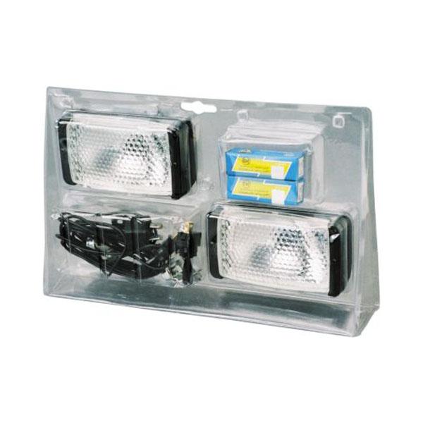 kit 2 phares de travail rectangulaire