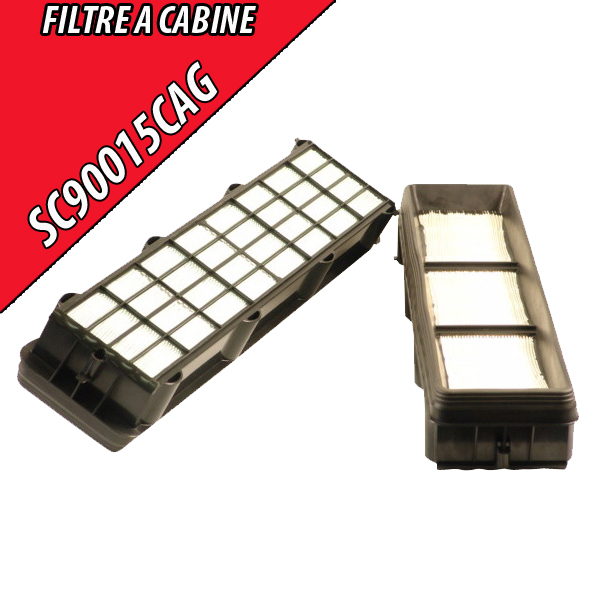 Filtre à air d'habitacle, à charbon actif John Deere 585x133x85 SC90015CAG