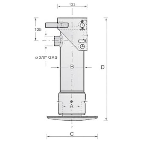Kit béquille hydraulique avec pompe réservoir de 2 litres + Flexible