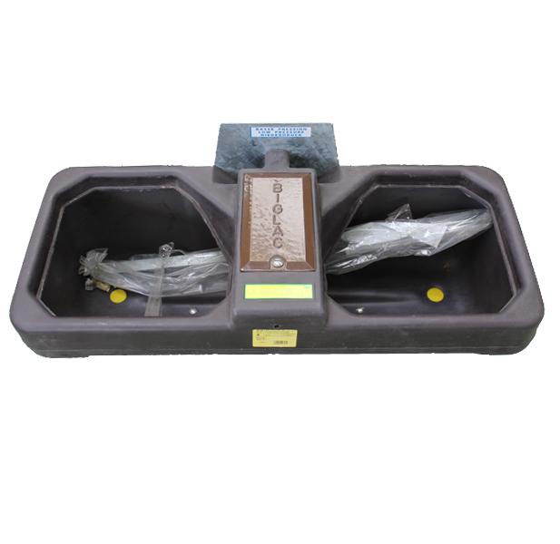 Abreuvoir BIGLAC 55L double  pour tonne à eau en polyéthylène haute densité, 1650 labuvette
