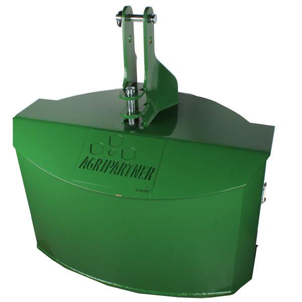 Masse fonte monobloc 900 Kg, pour tracteur Vert John Deere, mécano-soudée