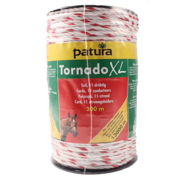 Corde TORNADO XL, blanc/rouge, 1 cuivre