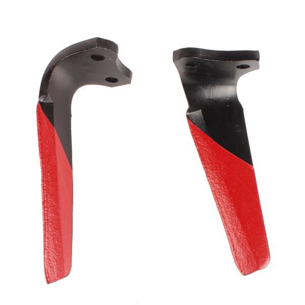 Dent gauche de herse rotative, 52539500, pour KUHN, pièce Interchangeable, Revêtement carbure