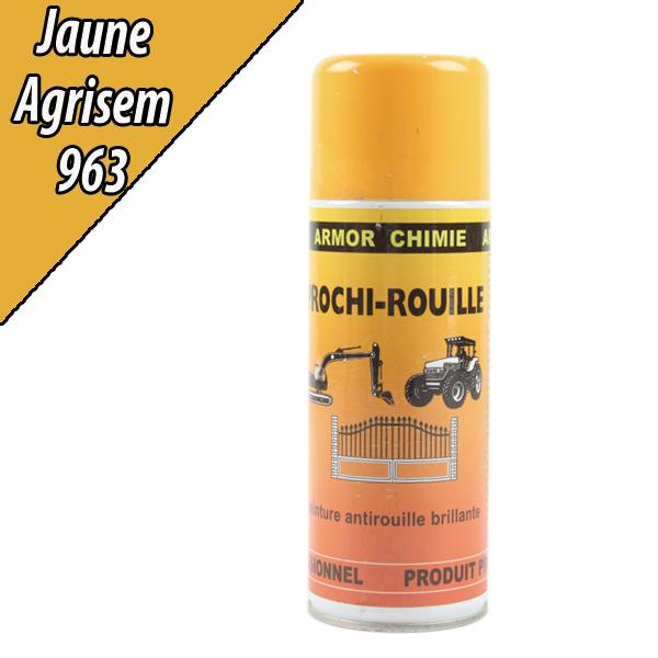 Peinture agricole PROCHI- ROUILLE brillante, jaune, 963, AGRISEM, Aérosol 400ml