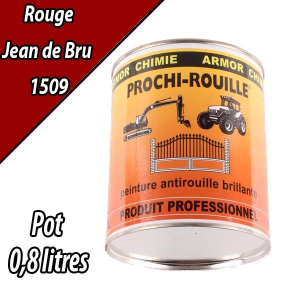 Peinture agricole PROCHI- ROUILLE brillante, rouge, 1509, JEAN DE BRU, Pot 0,8 L