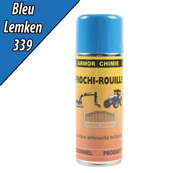 Peinture agricole PROCHI- ROUILLE brillante, bleu, 339, LEMKEN, Aérosol 400ml